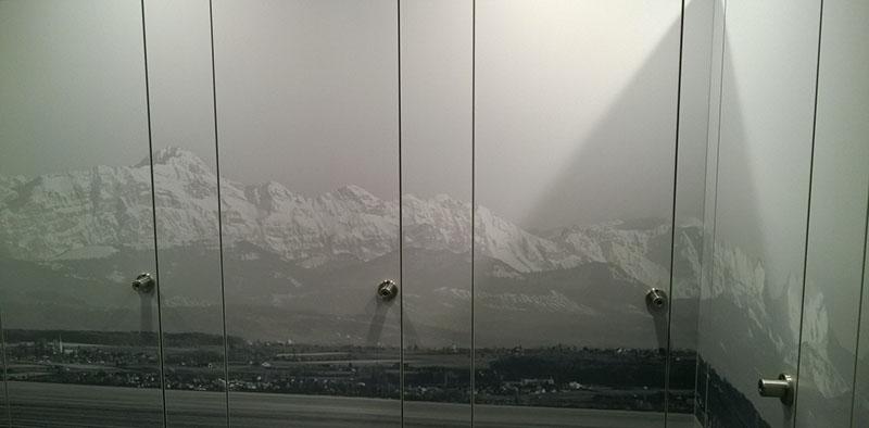 Alpenpanorama aufgeklebt