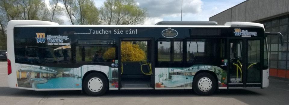 KFZ-Werbung, Busbeklebung